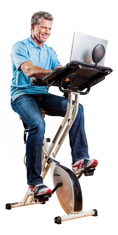 Fit Desk v2.0 Desk Exercise Bike with Massage Bar