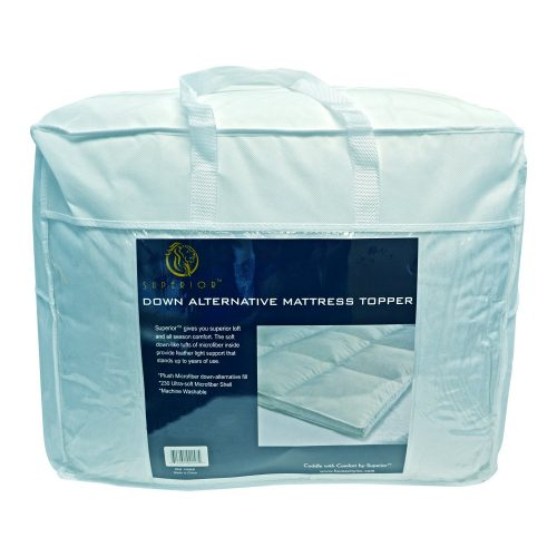 All Season Down Alternative King Mattress Topper, White