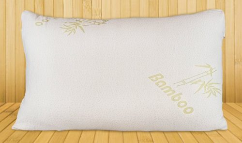 Bamboo Pillow -- The Shredded Memory Foam - Stay-Cool Removable Cover With Zipper