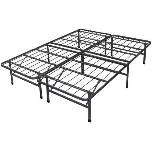 Best Price Mattress New Innovated Box Spring Platform Metal Bed Frame Foundation, King