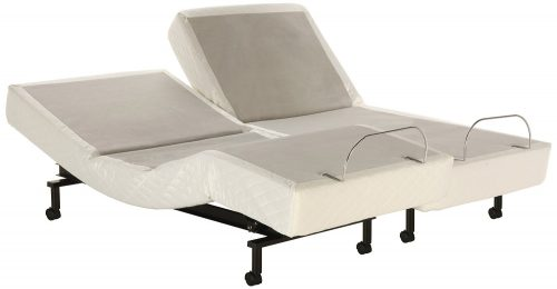 Fashion Bed Group 4AQ175 S-Cape Adjustable Bed Base with Wallhugger Movement and Full Body Massage, Gray Finish, Split Cal King