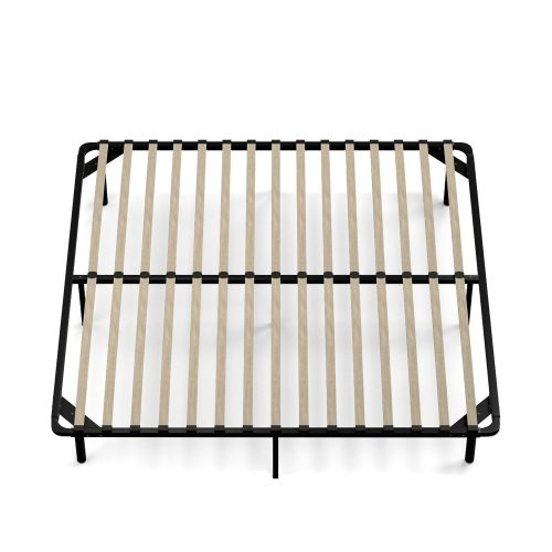 Handy Living Wood Slat Bed Frame King