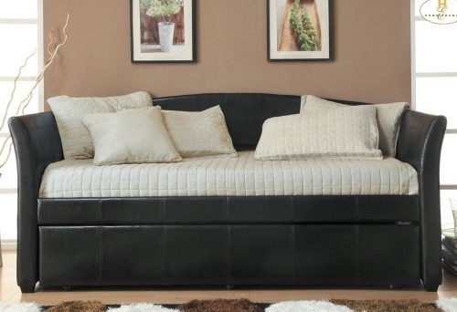 Homelegance Meyer 4956PU Daybed wTrundle, Dark Brown Bi-Cast Vinyl