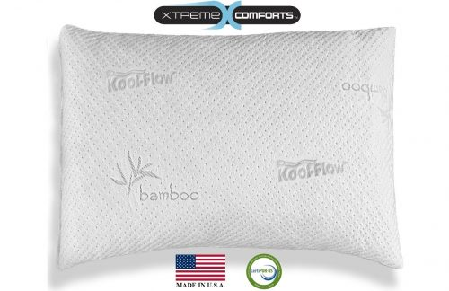 Hypoallergenic Bamboo Pillow - Shredded Memory Foam
