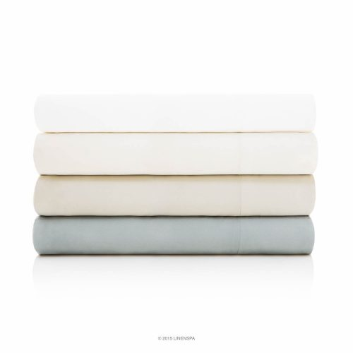 LINENSPA Ultra Soft Luxury 100% Rayon from Bamboo Sheet Set - Queen - Stone