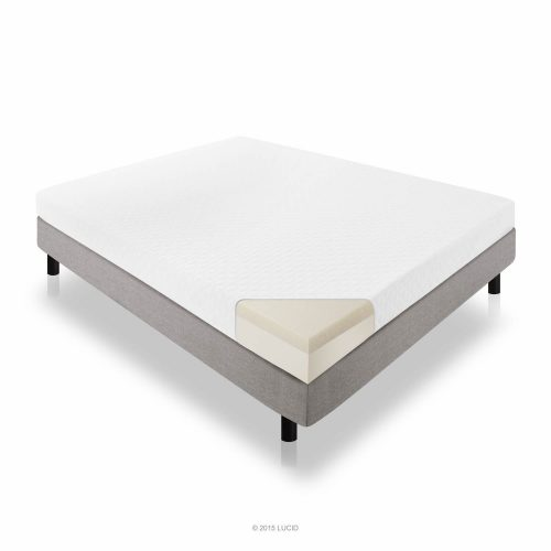 LUCID 6 Inch Memory Foam Mattress - Dual-Layered - CertiPUR-US Certified - Firm Feel - Twin Size