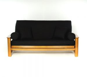 Lifestyle Covers Black Full Size Futon Cover