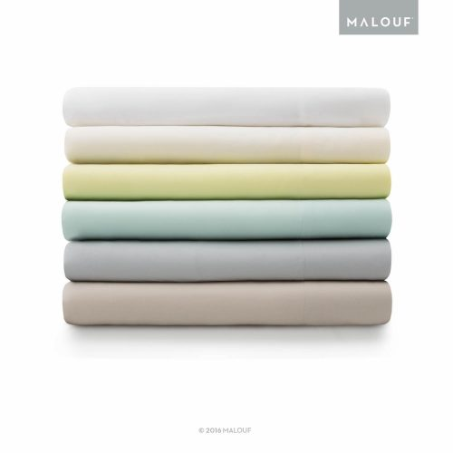 MALOUF 100% Rayon from Bamboo Sheet Set - 4-pc Set - Queen - Ash