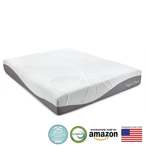 Perfect Cloud UltraPlush Gel-Max 10 Inch Memory Foam Mattress (Twin Size) - Amazon Exclusive Model Featuring New Visco Gel Cool Design - 25 Year Warranty