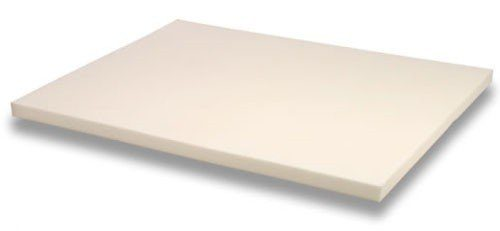 Queen Size 3 Inch Thick, 4 Pound Density Visco Elastic Memory Foam Mattress Pad Bed Topper. Made in the USA