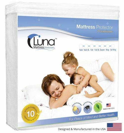 Queen Size Luna Premium Hypoallergenic 100% Waterproof Mattress Protector