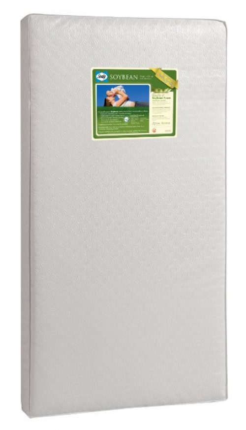 Sealy Soybean Foam-Core Crib Mattress (Design pattern may vary)