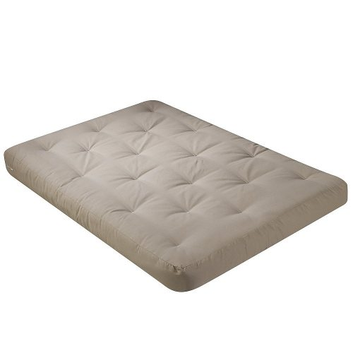 Serta Chestnut Duct Cotton Full Futon Mattress, Khaki