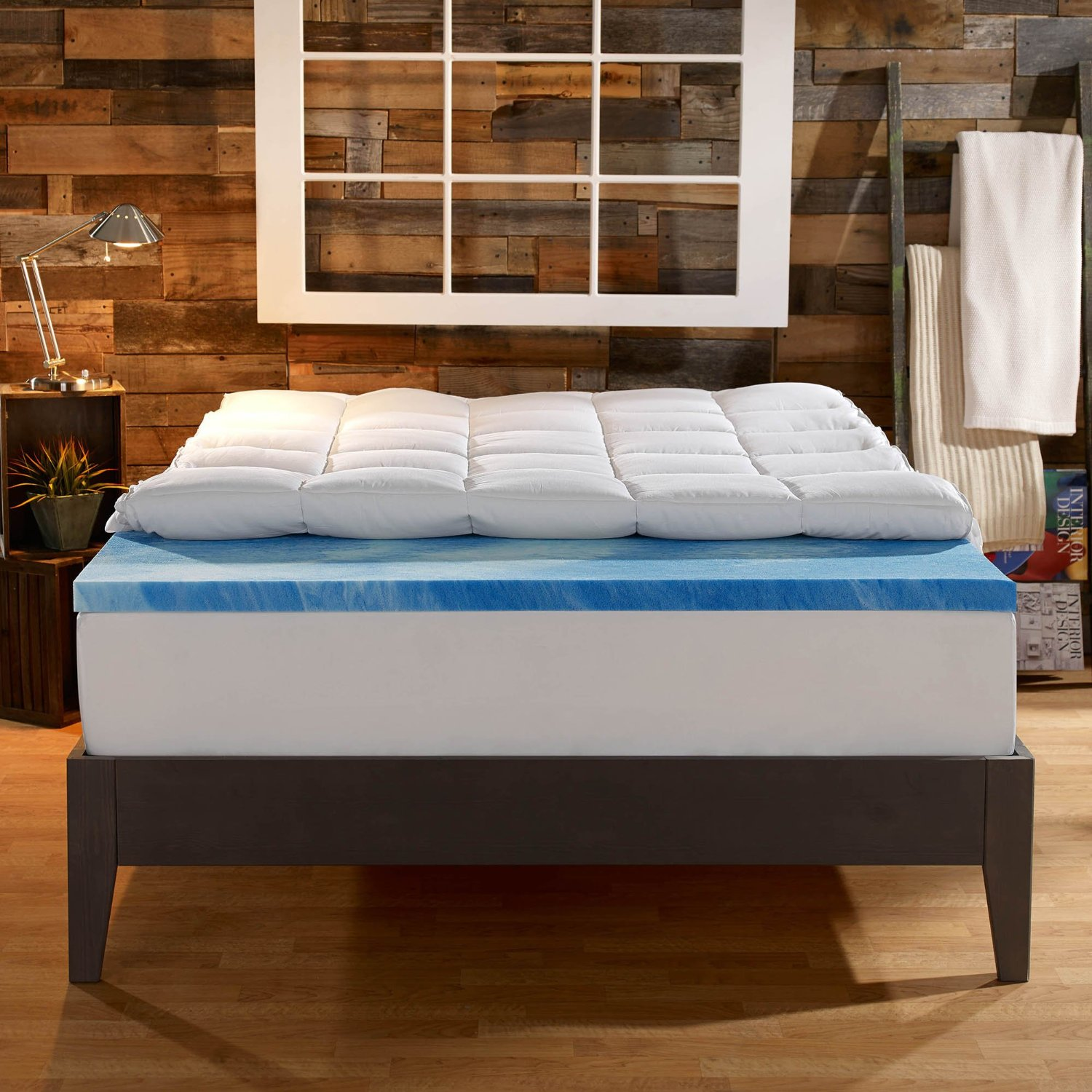 sleep innovations dual layer topper 4 in
