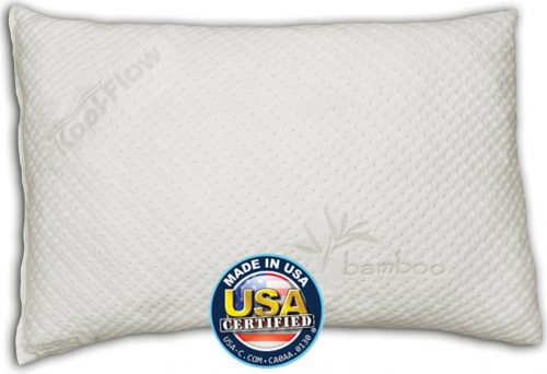 Snuggle-Pedic shredded Memory Foam Bamboo Pillow with the Kool-Flow Micro-Vented Covering - The Queen Size