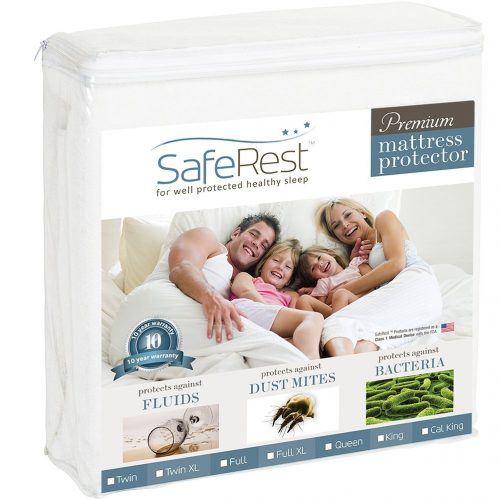 Twin Size SafeRest Premium Hypoallergenic Waterproof Mattress Protector