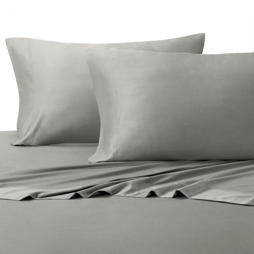 Ultra Soft & Exquisitely Silky 100{%} Viscose from Bamboo Sheet Set, Hypo-Allergenic, Queen, Gray