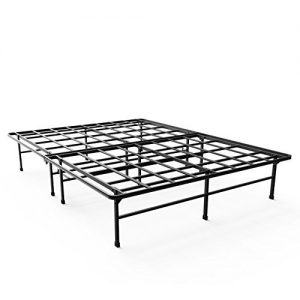 Zinus 14 Inch Elite SmartBase Mattress Foundation for Big & Tall Extra Strong Support Platform Bed Frame Box Spring Replacement Sturdy Quiet Noise Free Non-Slip, King