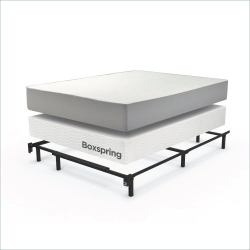 zinus compack adjustable steel bed frame for box spring mattress set fits full