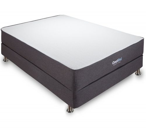 Classic Brands 10.5-Inch Cool Gel Ventilated Memory Foam Mattress, Queen