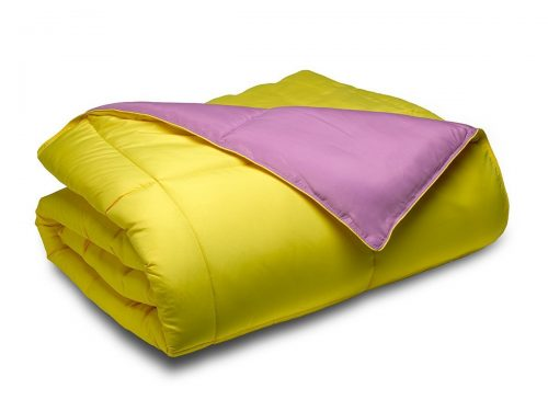 Cozy Beddings Reversible Down Alternative 2 Piece Comforter Set, Twin Twin XL, Purple Yellow