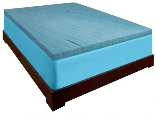 DreamDNA Gel Infused King Size 2 Inch Thick, Visco Elastic Memory Foam Mattress Bed Topper Made in the USA