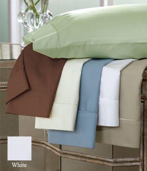 DreamFit 3-Degree 300 Thread Count Select World Class Cotton Sheet Set, Queen, White