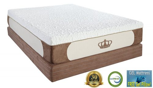 DynastyMattress New Cool Breeze 12-Inch Gel Memory Foam Mattress-King Size-CAL King Size