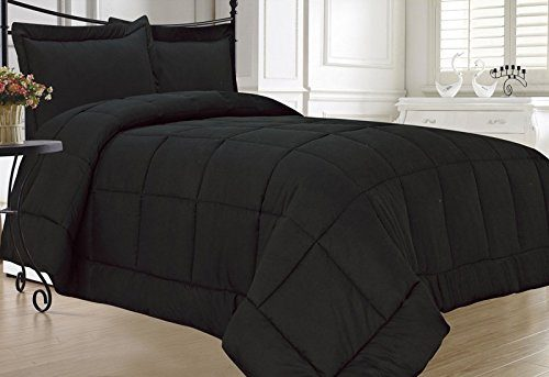 KingLinen® Black Down Alternative Comforter Set Twin