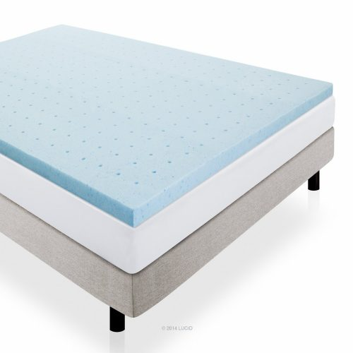 LUCID 2 Inch Gel Infused Ventilated Memory Foam Mattress Topper - 3-Year Warranty - Queen71ntbCnhraL._SL1500_
