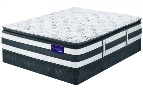 Queen Serta iComfort Hybrid Observer Super Pillow Top Mattress Set with Regular Foundation