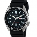 Photo Seiko Men's SKX173 Stainless Steel and Black Polyurethane Automatic Dive Watch