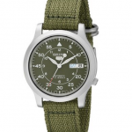 Photo Seiko Men's SNK805 Seiko 5 Automatic Stainless Steel Watch (Green Canvas Strap)