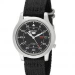 Photo Seiko Men's SNK809 Seiko 5 Automatic Stainless Steel Watch (Black Canvas Strap)