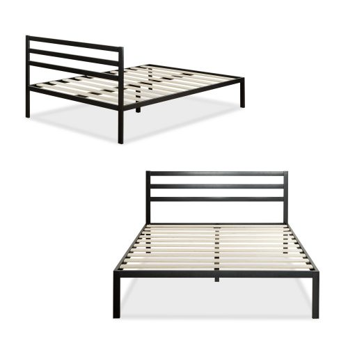Zinus Modern Studio 14 Inch Platform 1500H Metal Bed FrameMattress  Foundation with Headboard Twin  Top. Poster Zinus Twin Beds   modelismo hld com