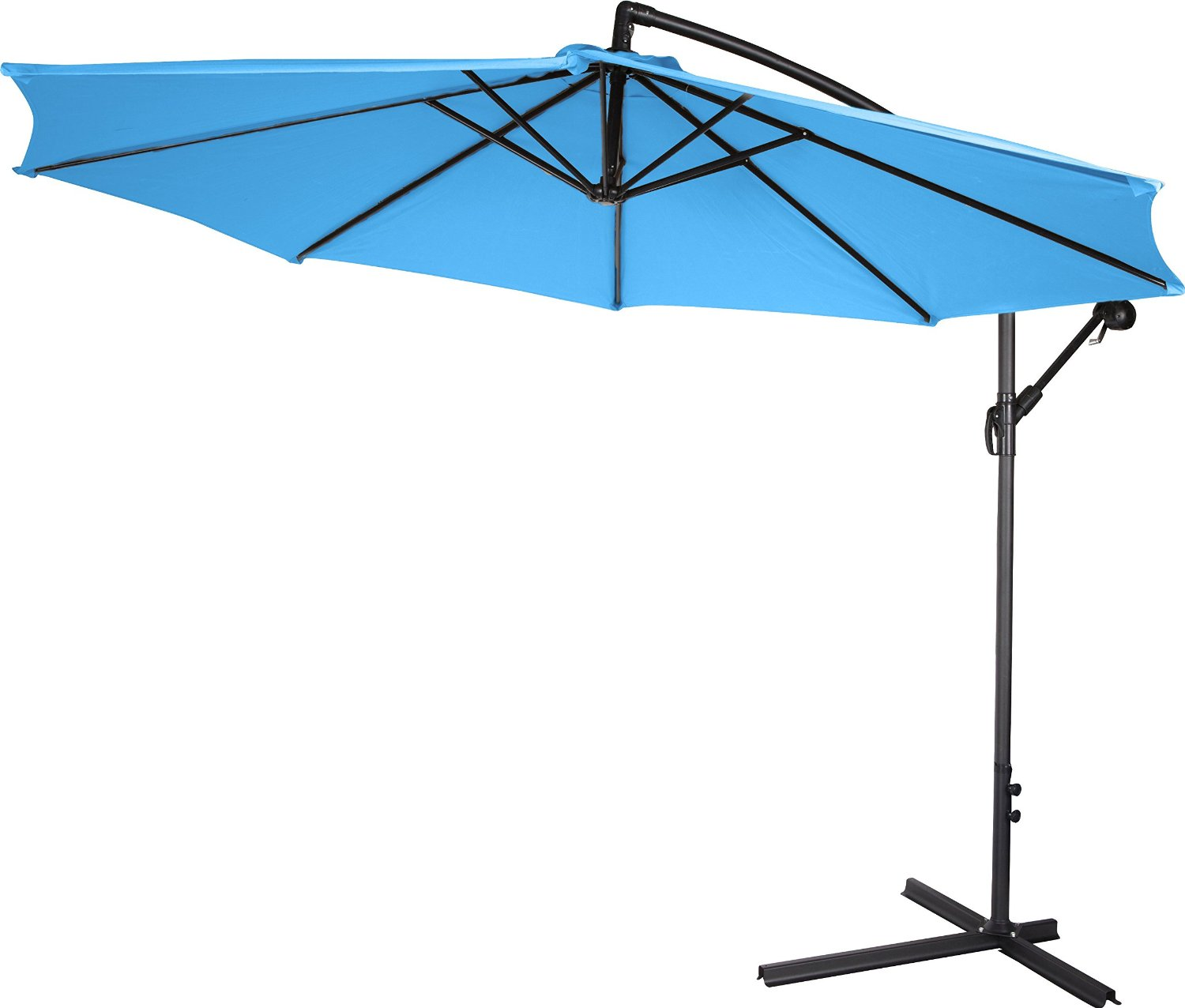 10u2032 Deluxe Polyester Offset Patio Umbrella By Trademark Innovations, 5u2033 X  12u2033 X 75.5u2033 ...