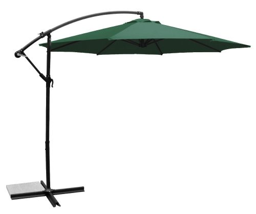 Ace Evert Offset Umbrella 8074, 10 ft, Polyester, Dark Green
