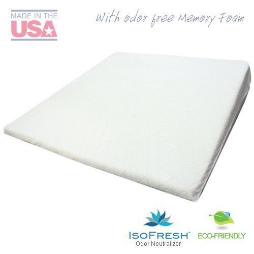 Acid Reflux Wedge Pillow (32x30x7) with Memory Foam Overlay and Removable Microfiber Cover BIG by Medslant