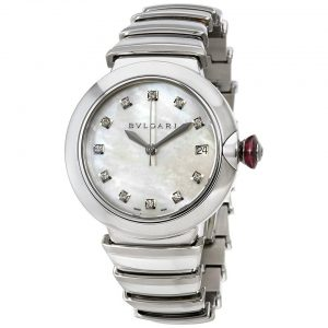 Bvlgari Lvcea Automatic Mother of Pearl Diamond Ladies Watch 102382
