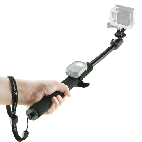 CamKix Telescopic 14 to 40 Pole for Gopro Hero 4, Session, Black, Silver, Hero+ LCD, 3+, 3, 2, 1 and Cameras - Adjustable - Remote Straps - Easy Extension - Tripod Mount Wrist Strap Lanyard