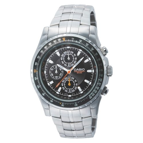 Casio Men's MTP4500D-1AV Slide Rule Bezel Aviation Stainless Watch