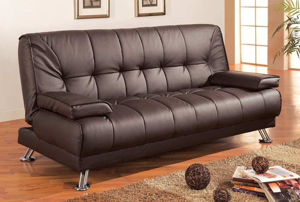 Coaster Futon Sofa Bed With Removable Arm Rests 36 X 76 5 In