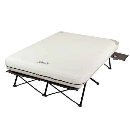 Coleman Queen Airbed Cot with Side Tables and 4D Battery Pump