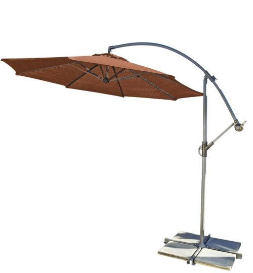 Coolaroo Round Cantilever Umbrella, Terracotta, 10-Foot