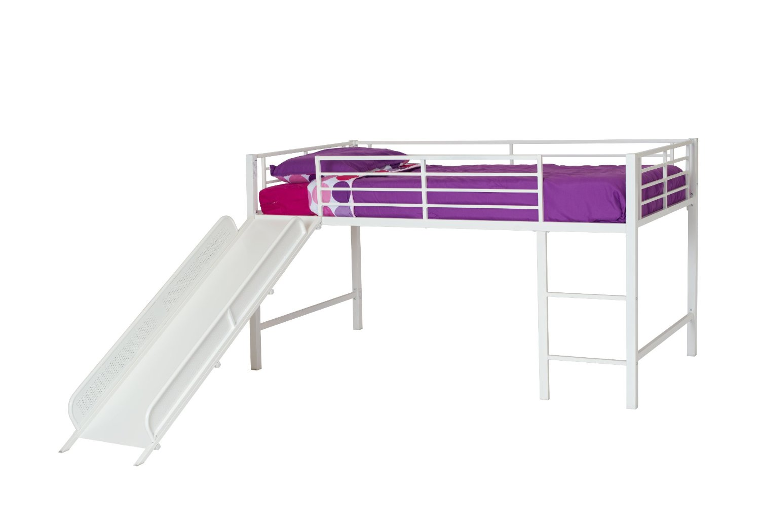 Twin Bed With Slide Part - 42: DHP Junior Loft Bed With Slide, 77.5 X 41.5 X 43 In ...