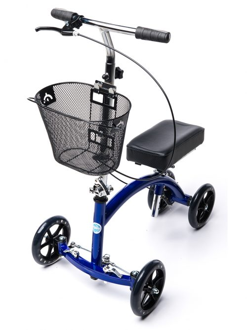 Deluxe Steerable Knee Walker Knee Scooter Knee Cycle Leg Walker Crutch Alternative in Blue