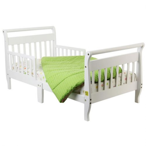 Dream On Me Classic Sleigh Toddler Bed, White