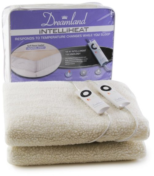 Dreamland Intelliheat Fleecy Heated Double Dual Under Blanket