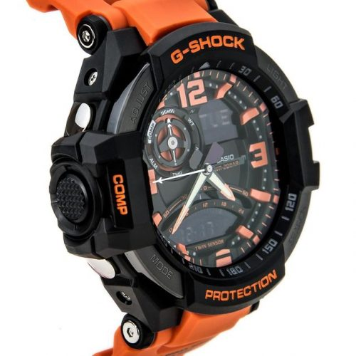 G-Shock Unisex G-Aviation Twin Sensor GA1000 BlackOrange