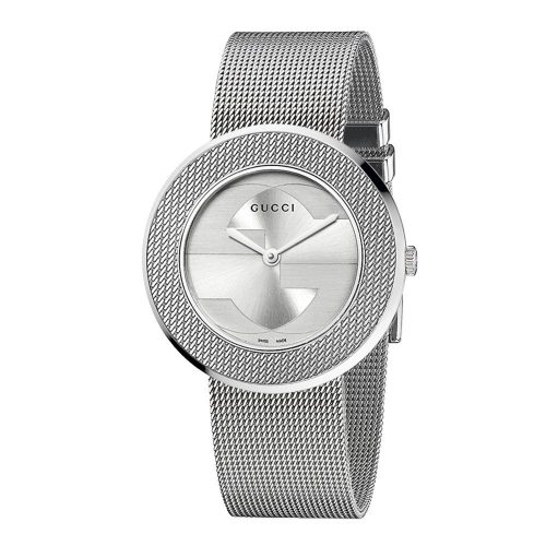 Gucci Women's YA129407 U-Play Medium Steel Mesh Watch